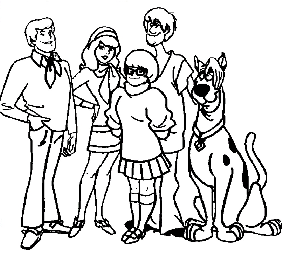 Scooby Doo Coloring Pages - Kidsuki