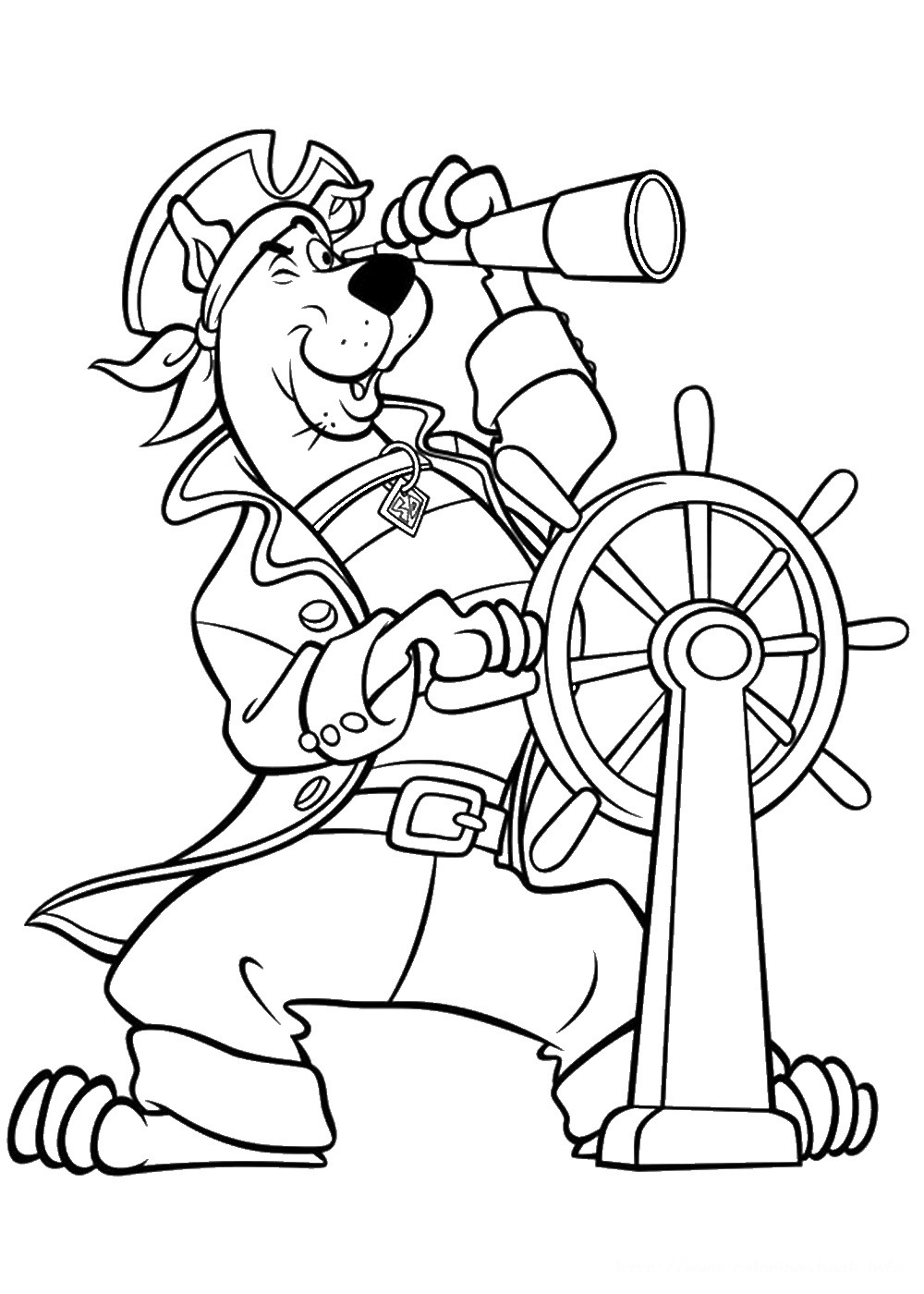 coloring pages of scobby doo - photo#25