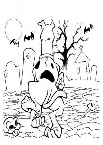 Scooby Doo Haunted House Coloring Page