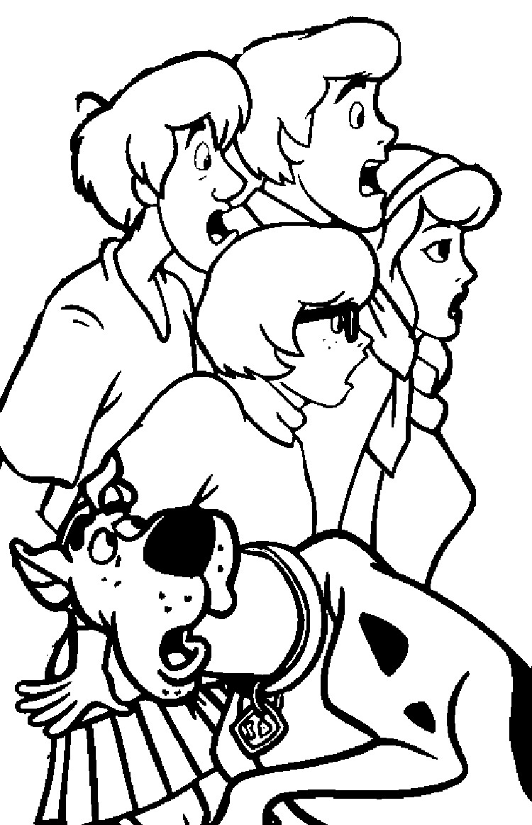 scoo by doo coloring pages - photo#19