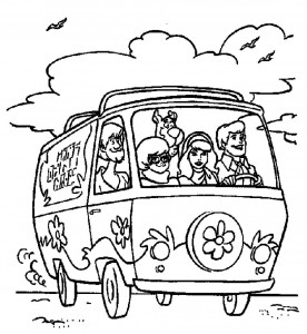 Scooby Doo Van Coloring Page