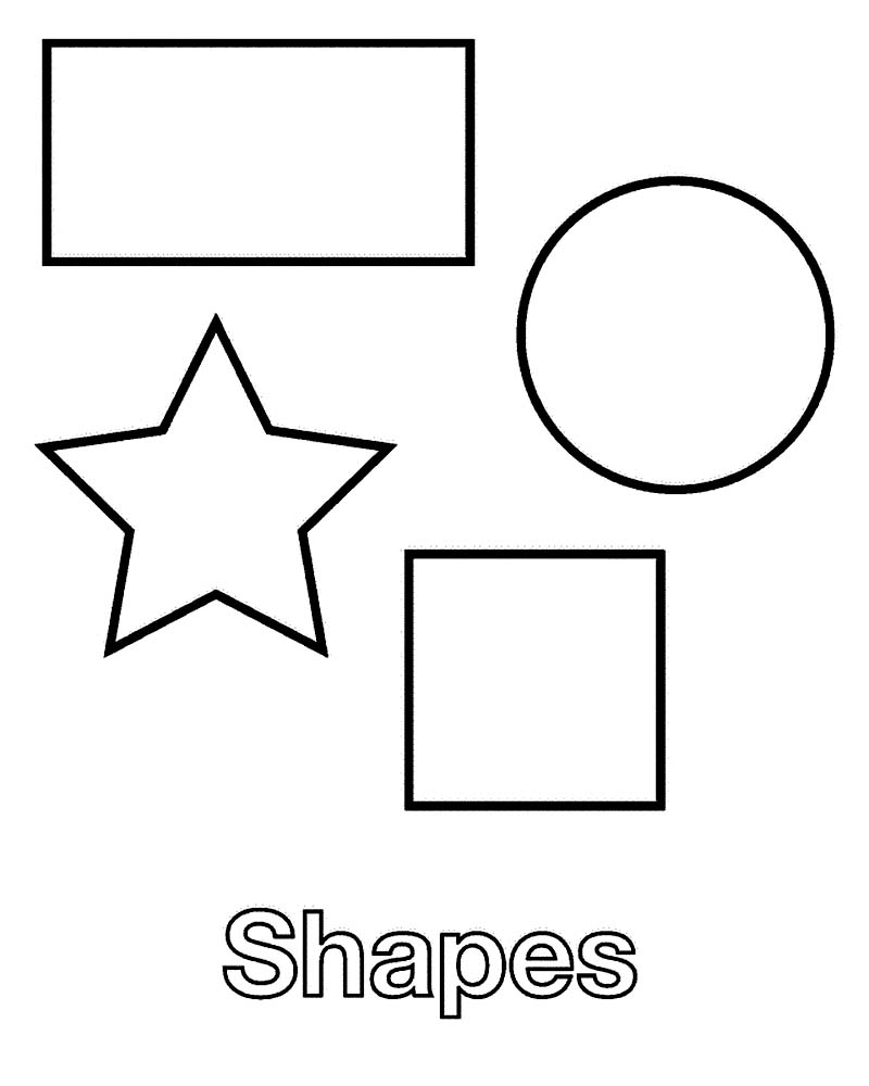 Coloring Pages Face Shapes