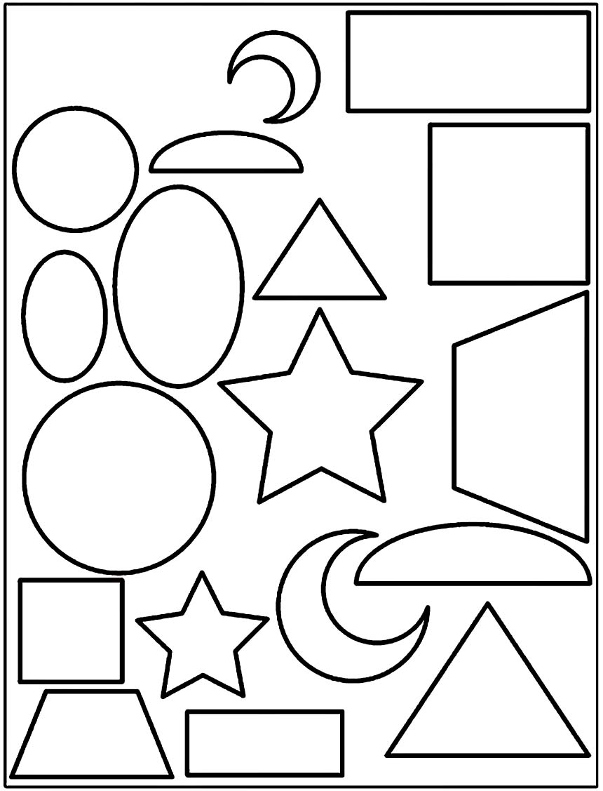 Coloring pages shapes - Coloring Sheets Shapes Printable Shapes Coloring Pages All About Writers