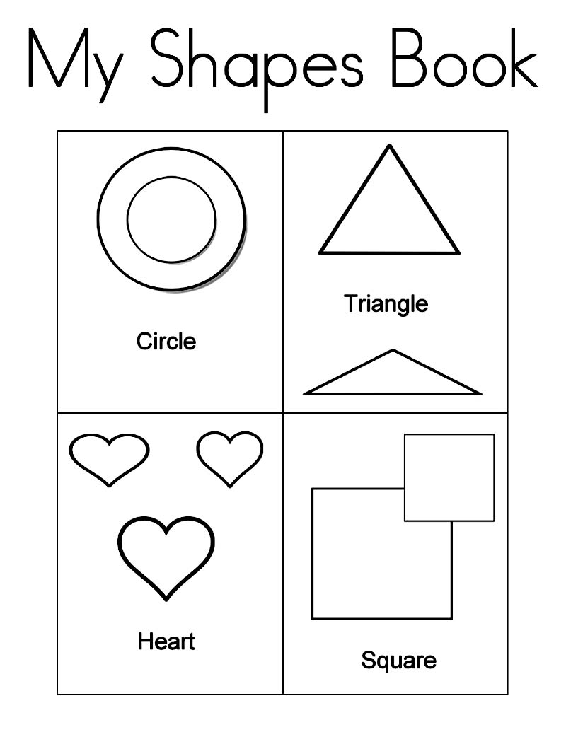 Coloring in shapes - Shapes Coloring Sheets