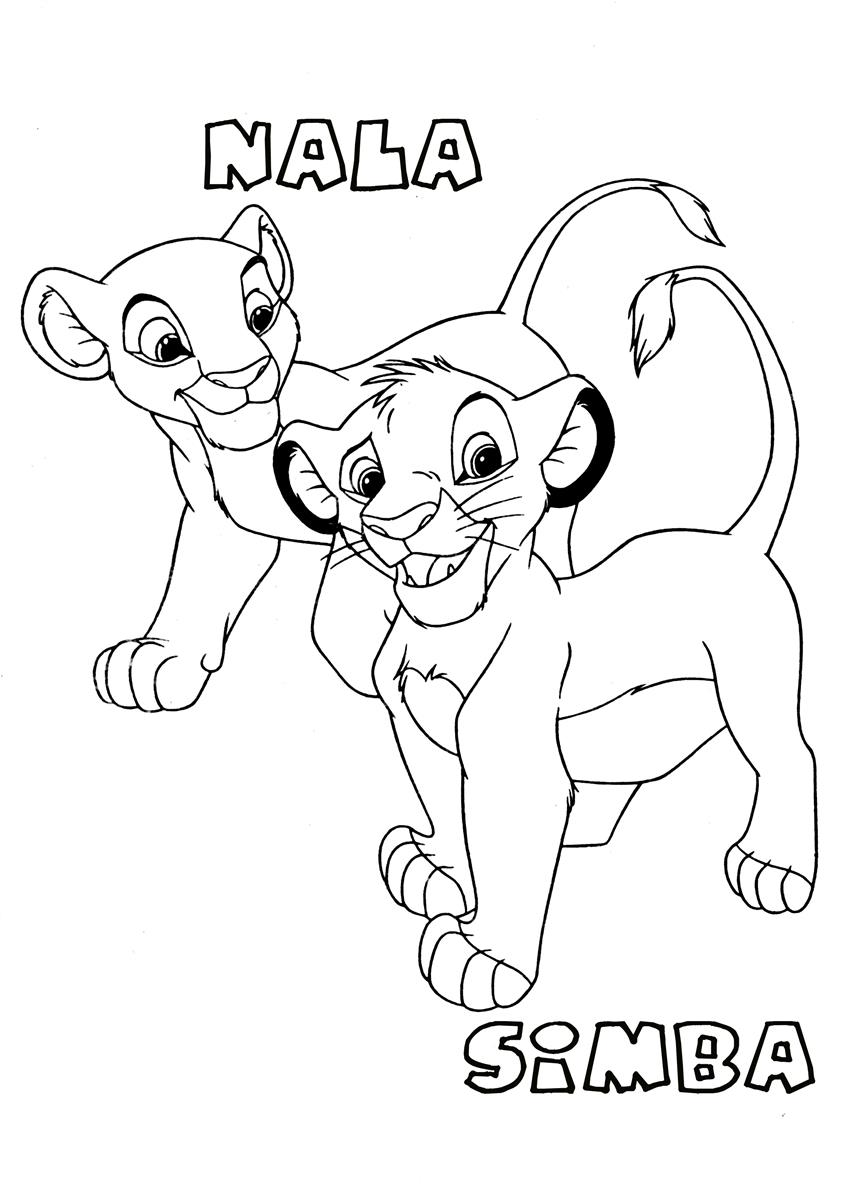 Printable Simba Coloring Pages | Coloring Me