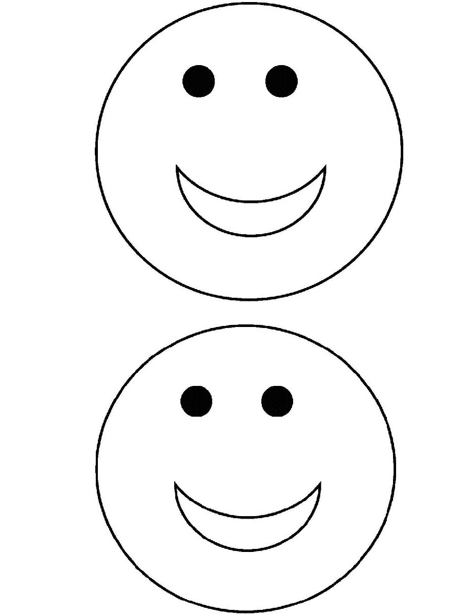 coloring smiley face pages - photo#19