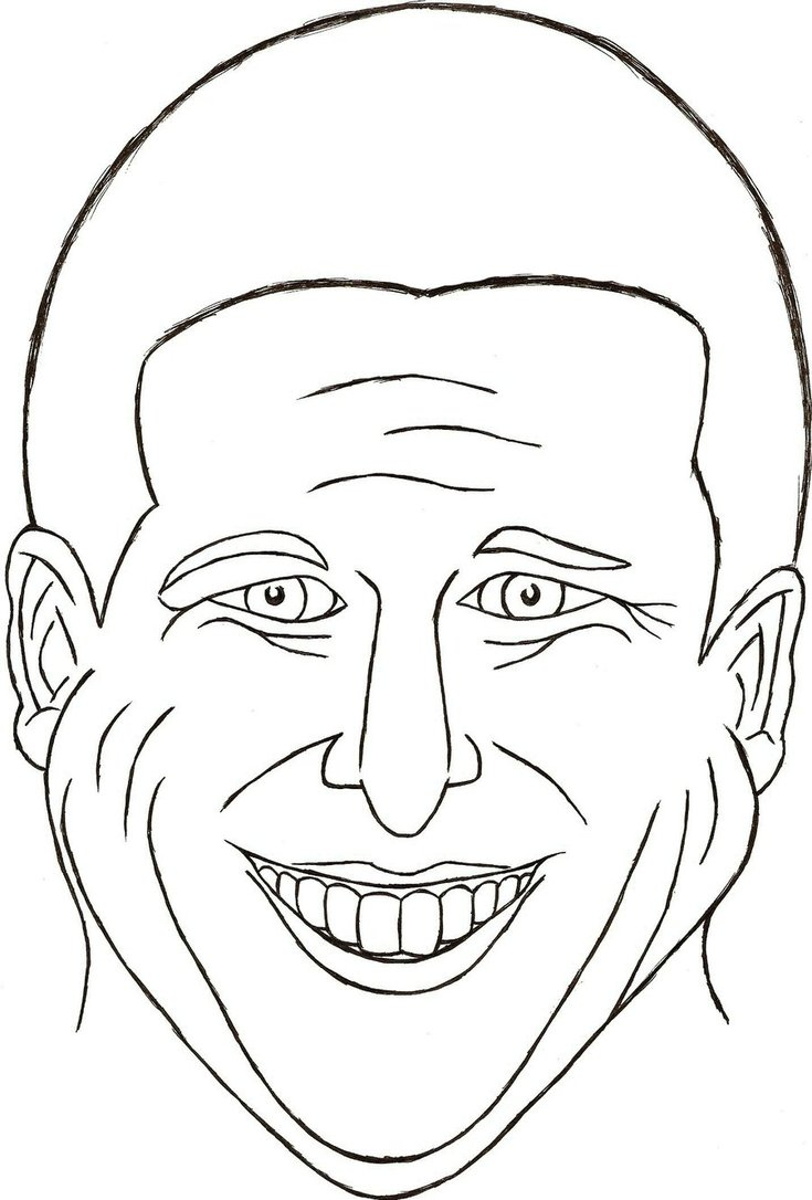 Line Drawing Of Happy Face : Free a happy face coloring pages