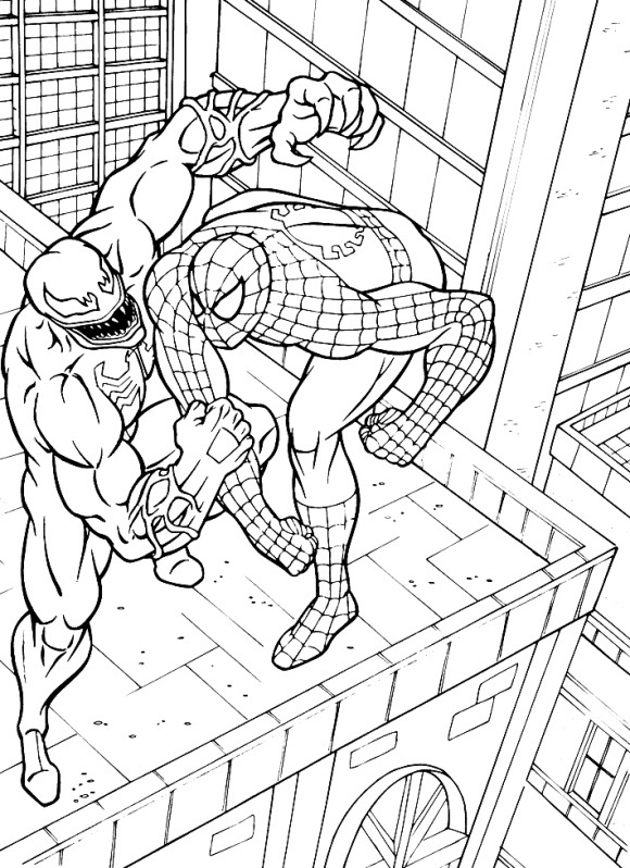 spiderman 3 venom coloring pages - photo#8