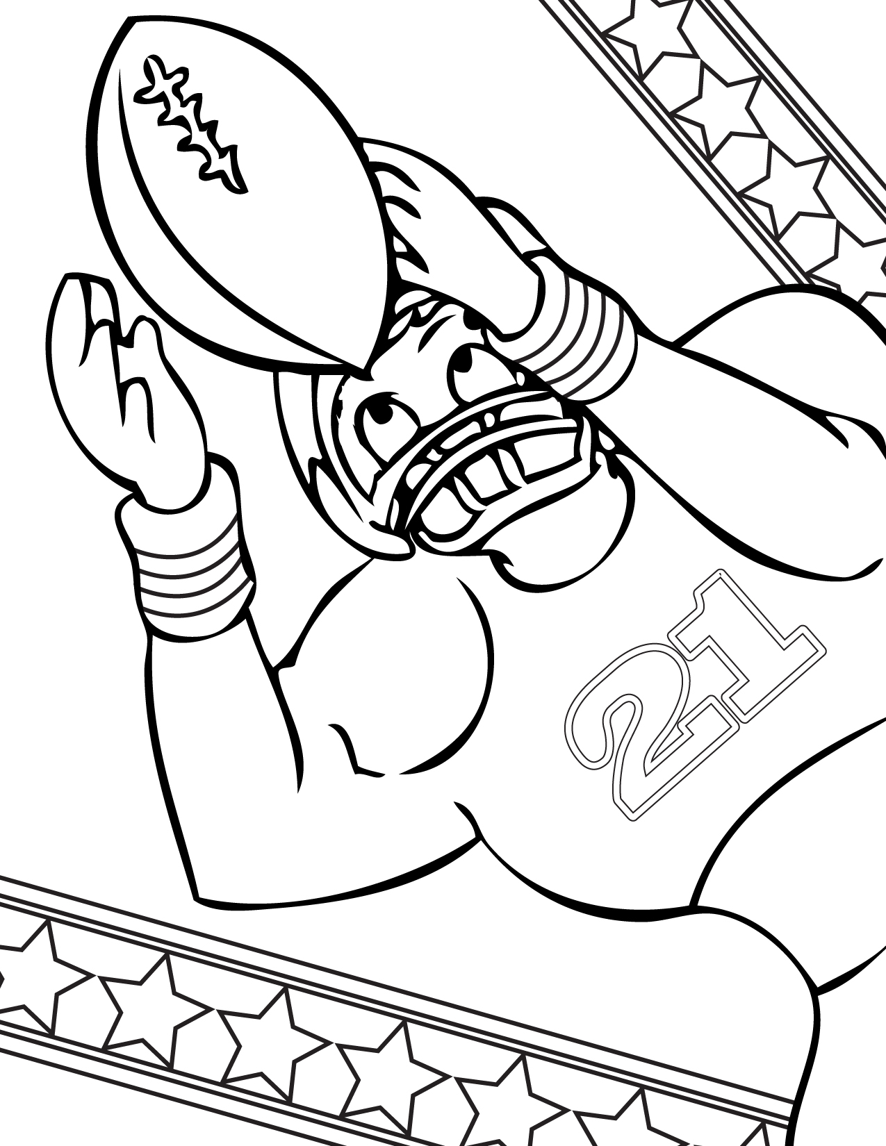 football sports coloring pages - Sports Coloring Book
