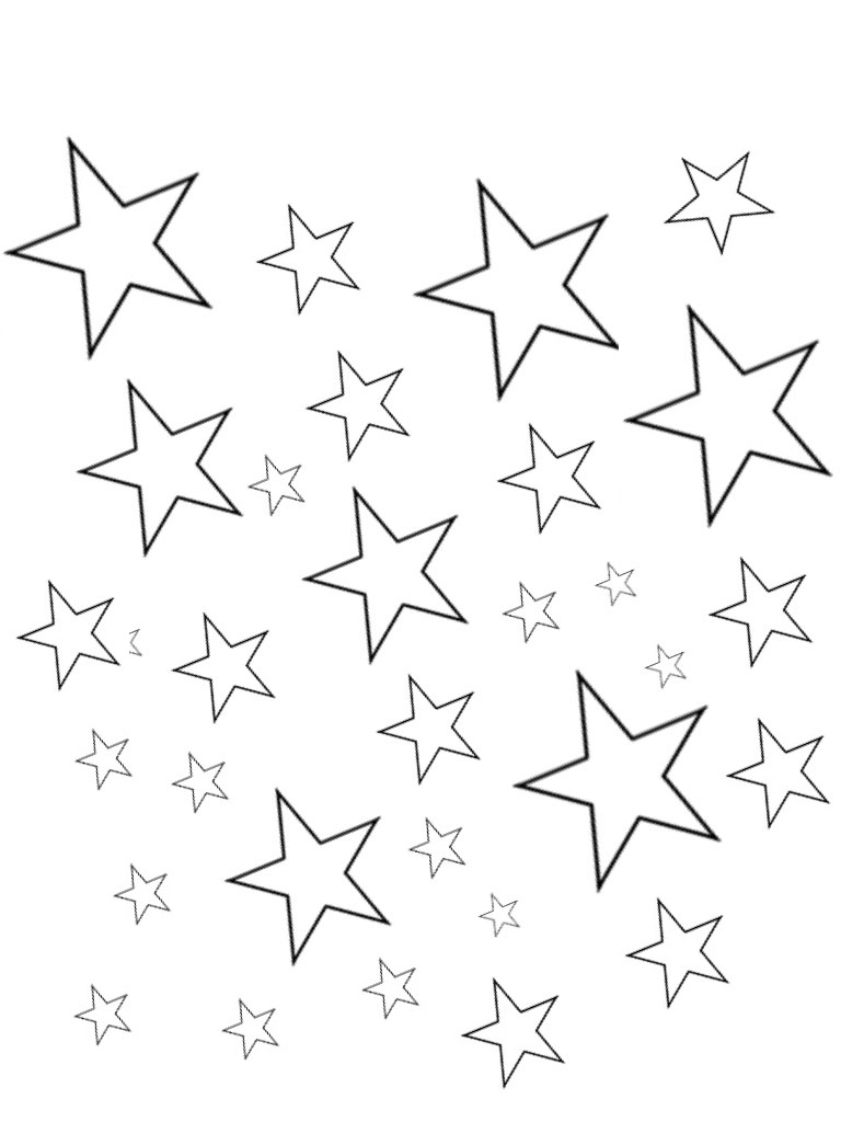 star coloring sheets