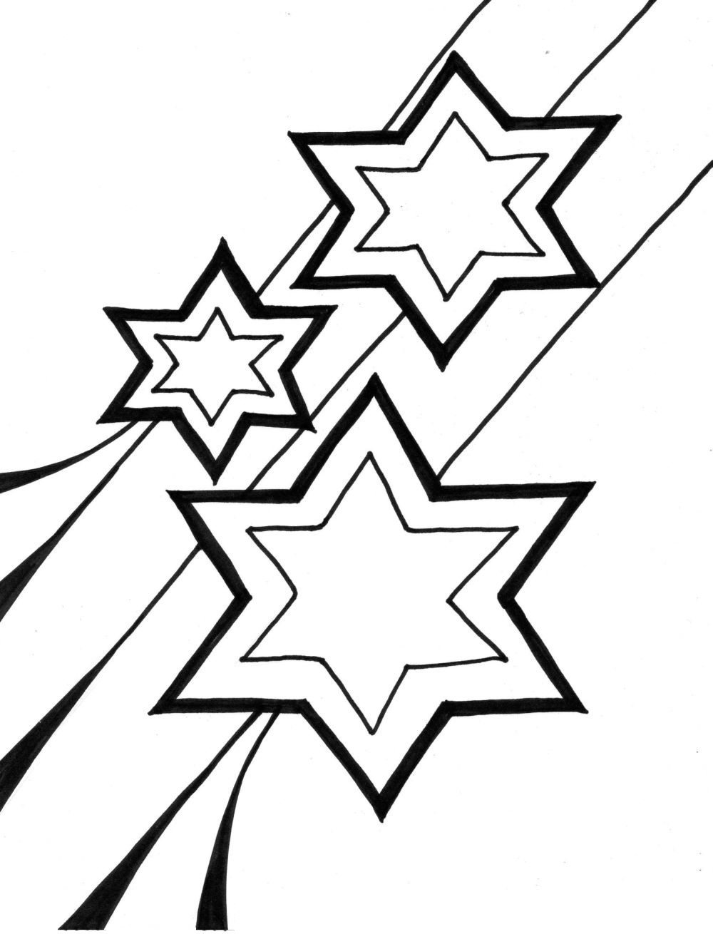 Printable Star Coloring Pages | Coloring Me