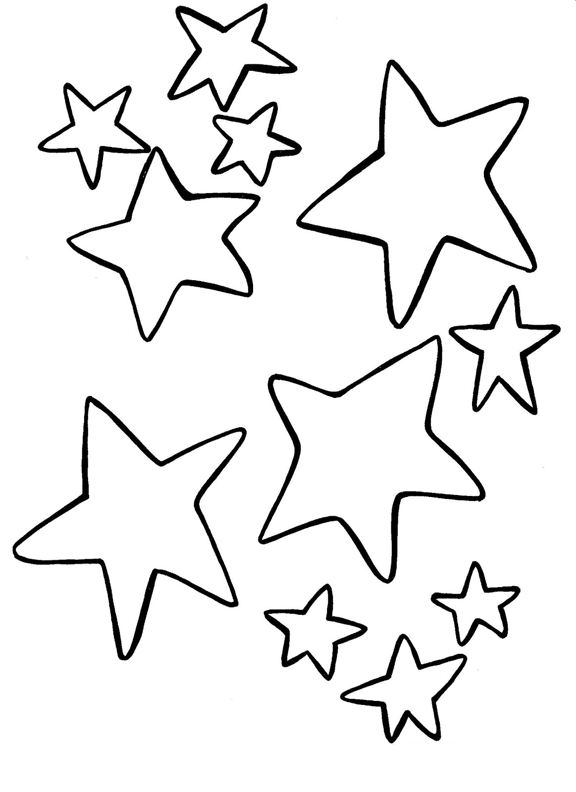 Printable Star Coloring Pages Me