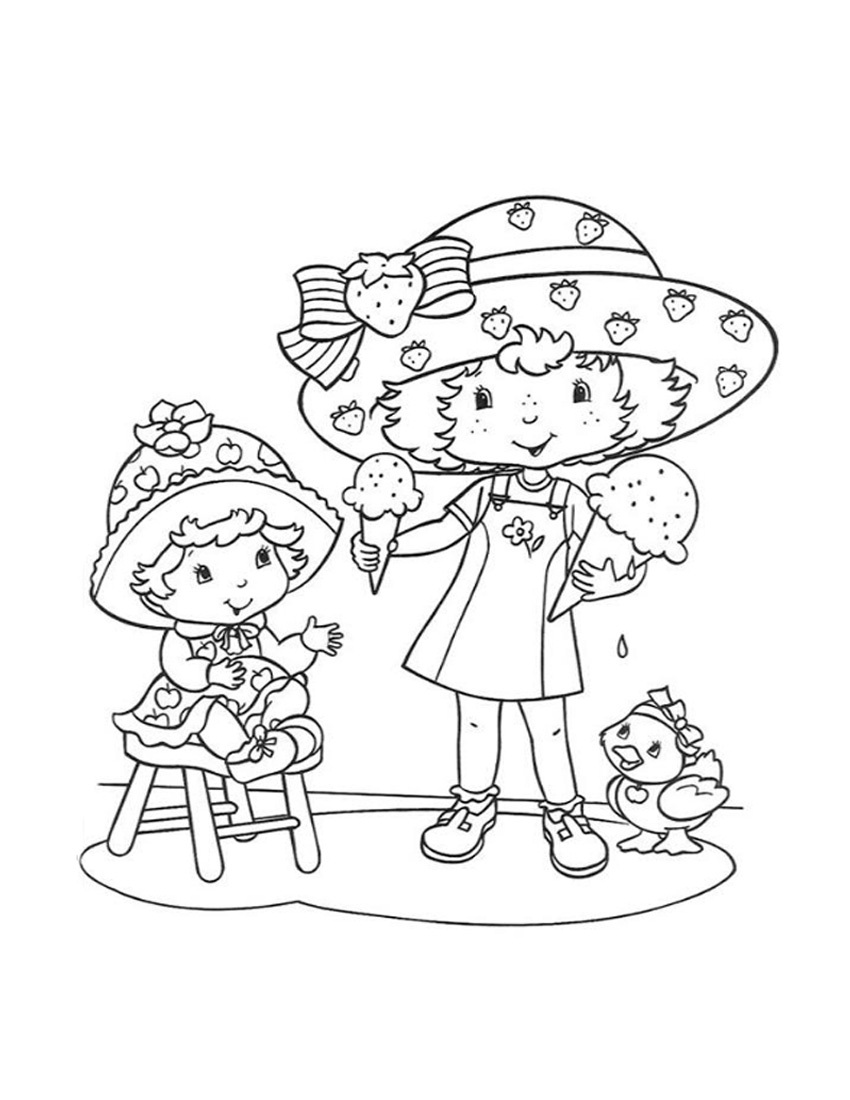 strawberry shortcake coloring pages free printable coloring me