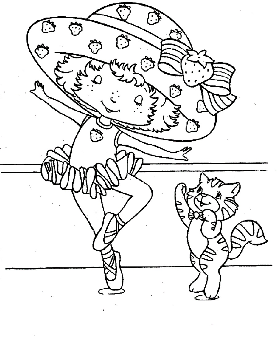Shortcake coloring pages printable strawberry shortcake for Strawberry shortcake coloring pages to print