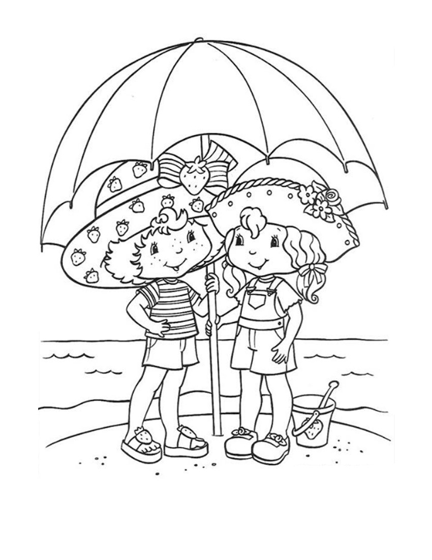 strawberry shortcake coloring pages online - photo#33