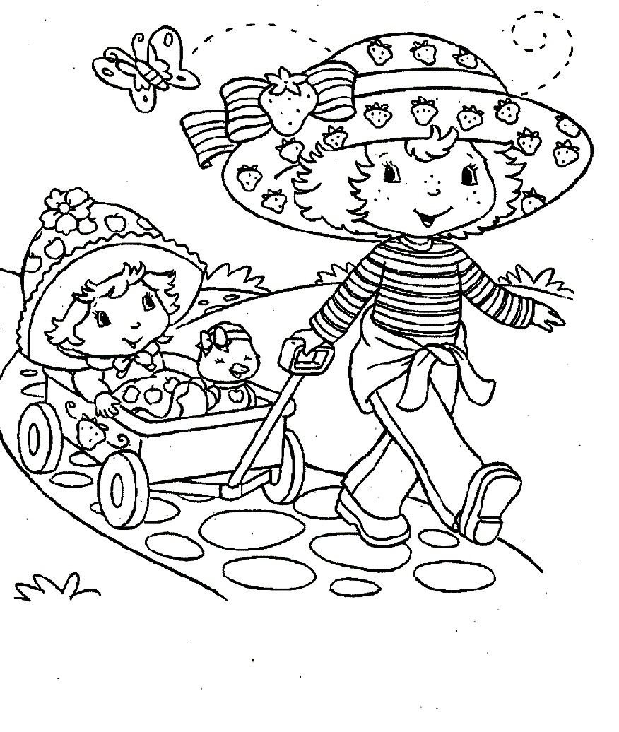 Strawberry Shortcake For Coloring