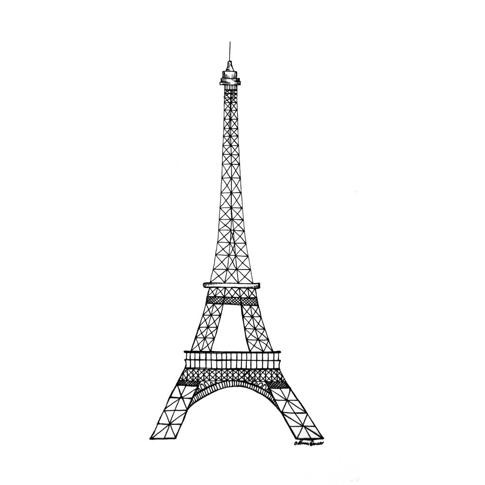 coloring pages eifell tower | Printable Eiffel Tower Coloring Pages | ColoringMe.com