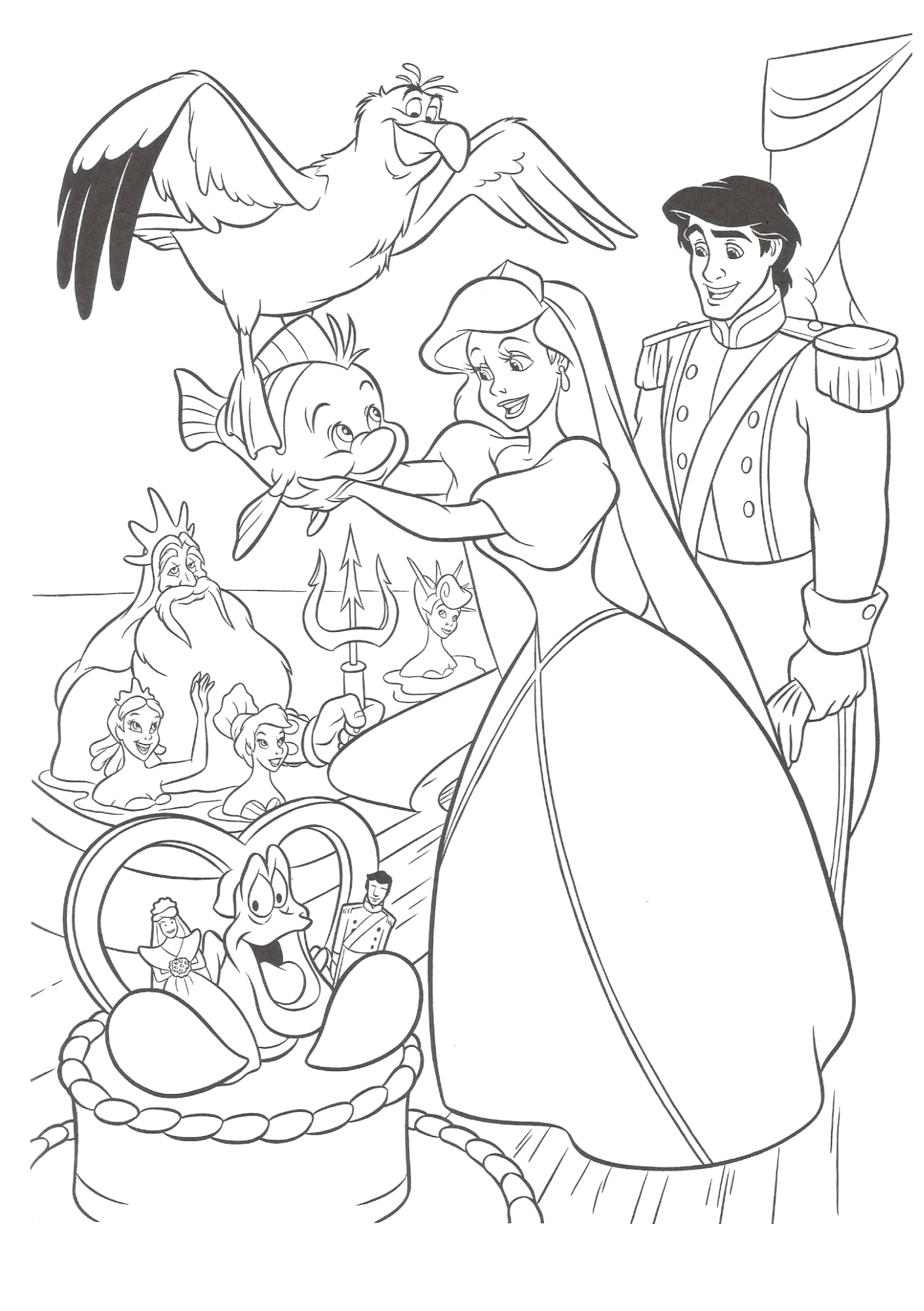 ariel disney coloring pages - photo#35