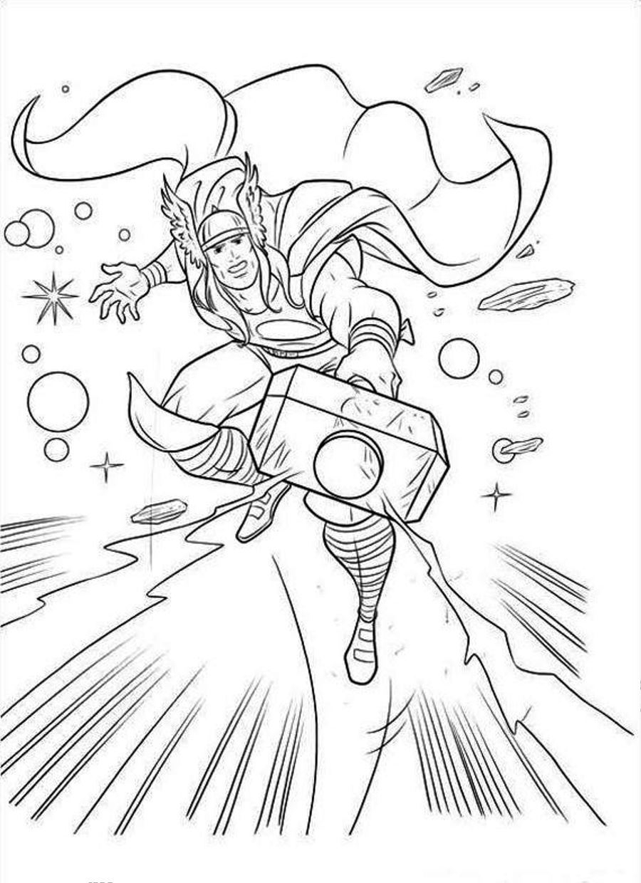 Printable Thor Coloring Pages Coloring Me Thor Coloring Pages