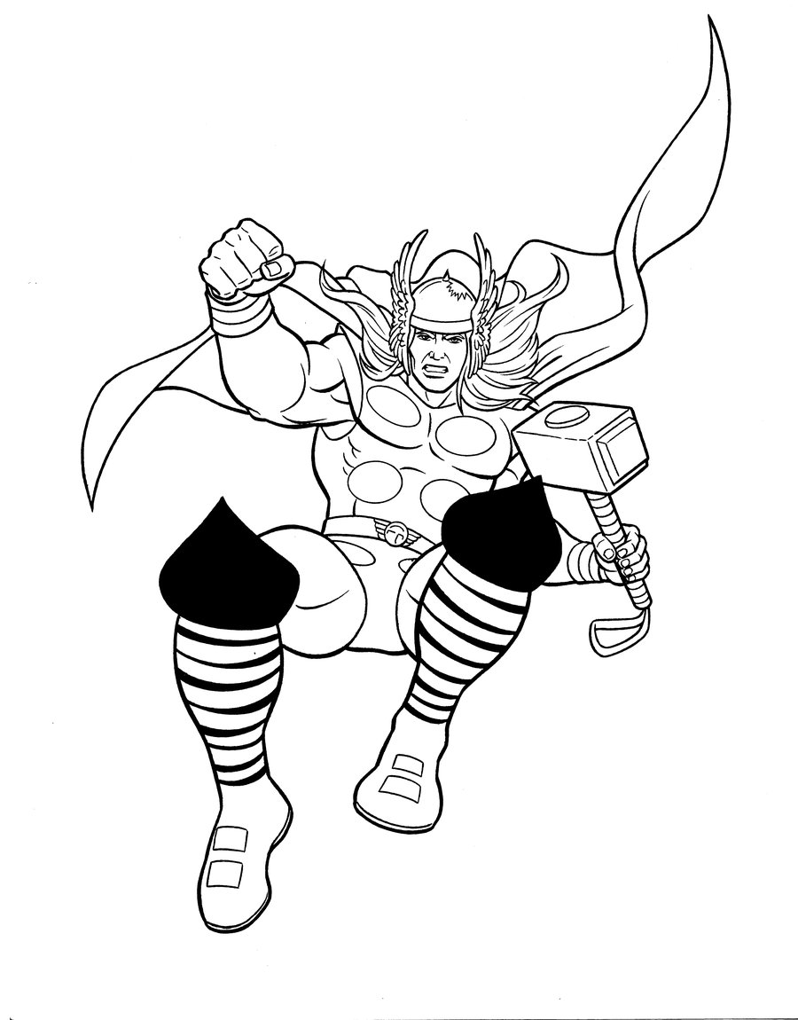 Lego Thor Coloring Page - Free Lego Coloring Pages ... | 1150x900