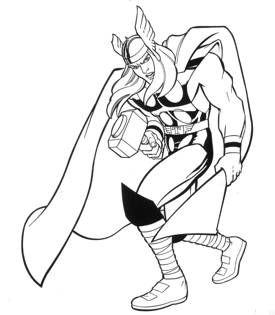 Printable Thor Coloring Pages Coloring Me Thor Printable Coloring Pages