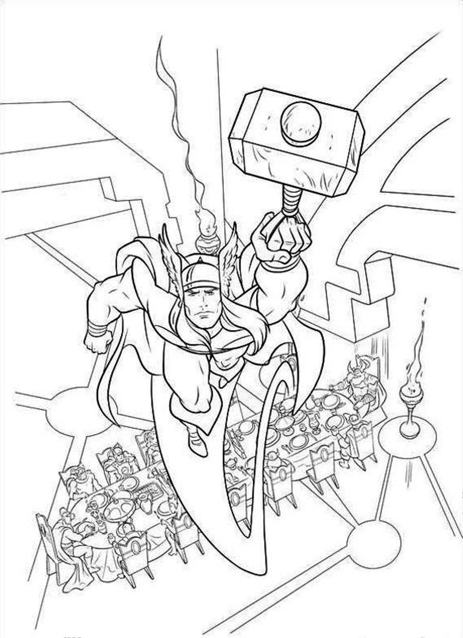 Printable Thor Coloring Pages Coloring Me Thor Coloring Page