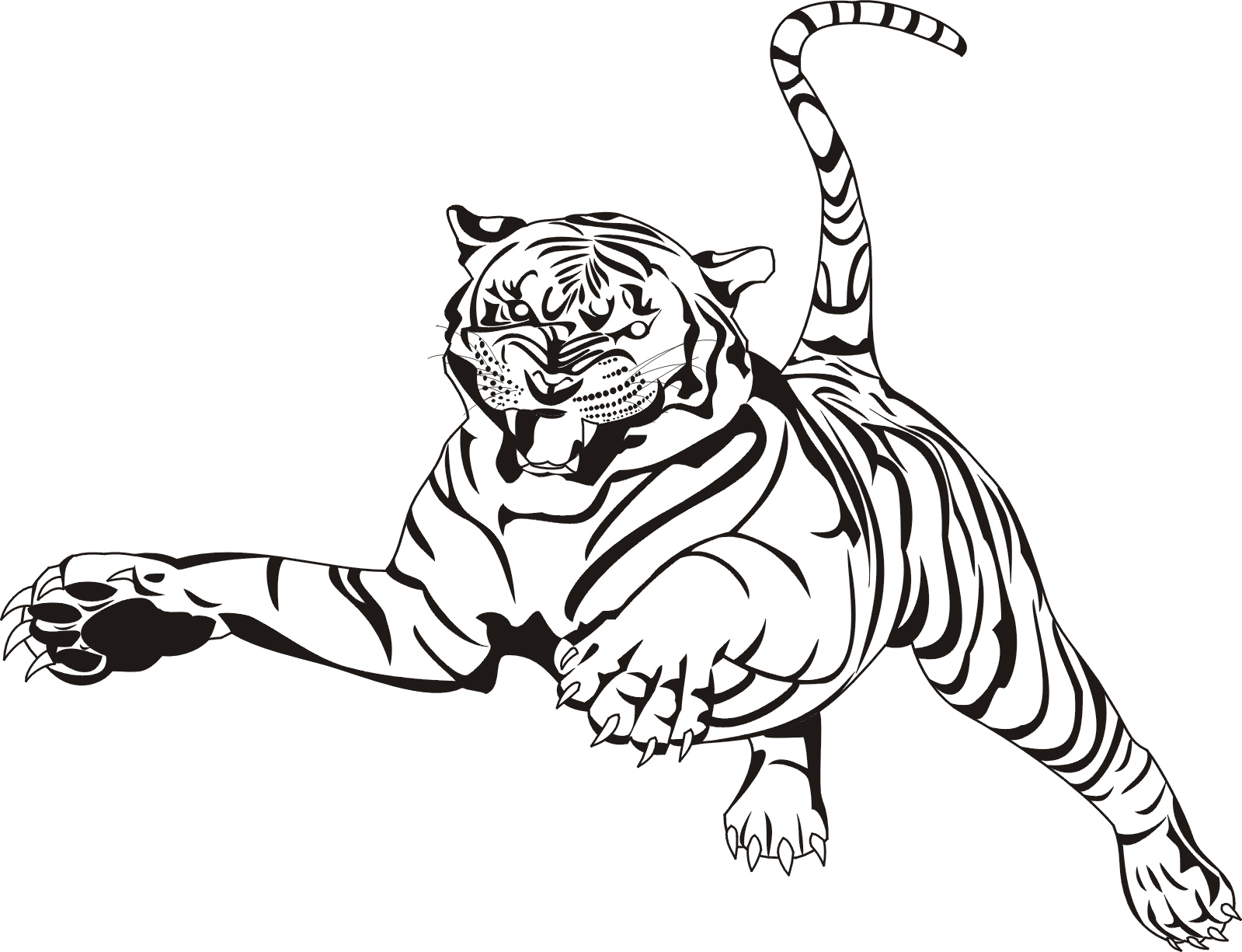 bengal tiger coloring page tiger tiger pounce coloring pages for