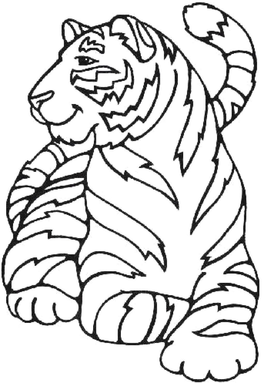printable tigers coloring pages - photo#28