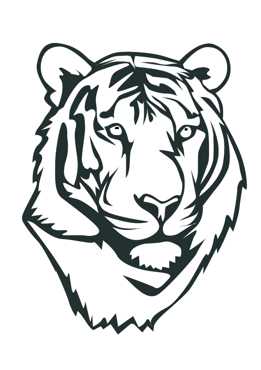 Tiger-Face-Coloring-Pages Leprechaun Coloring Pages