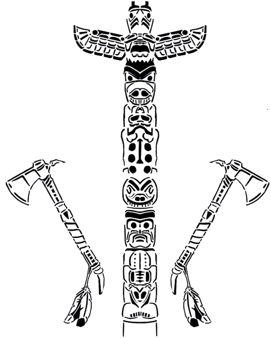 Printable Totem Pole Coloring Pages Coloring Me Totem Pole Coloring Pages