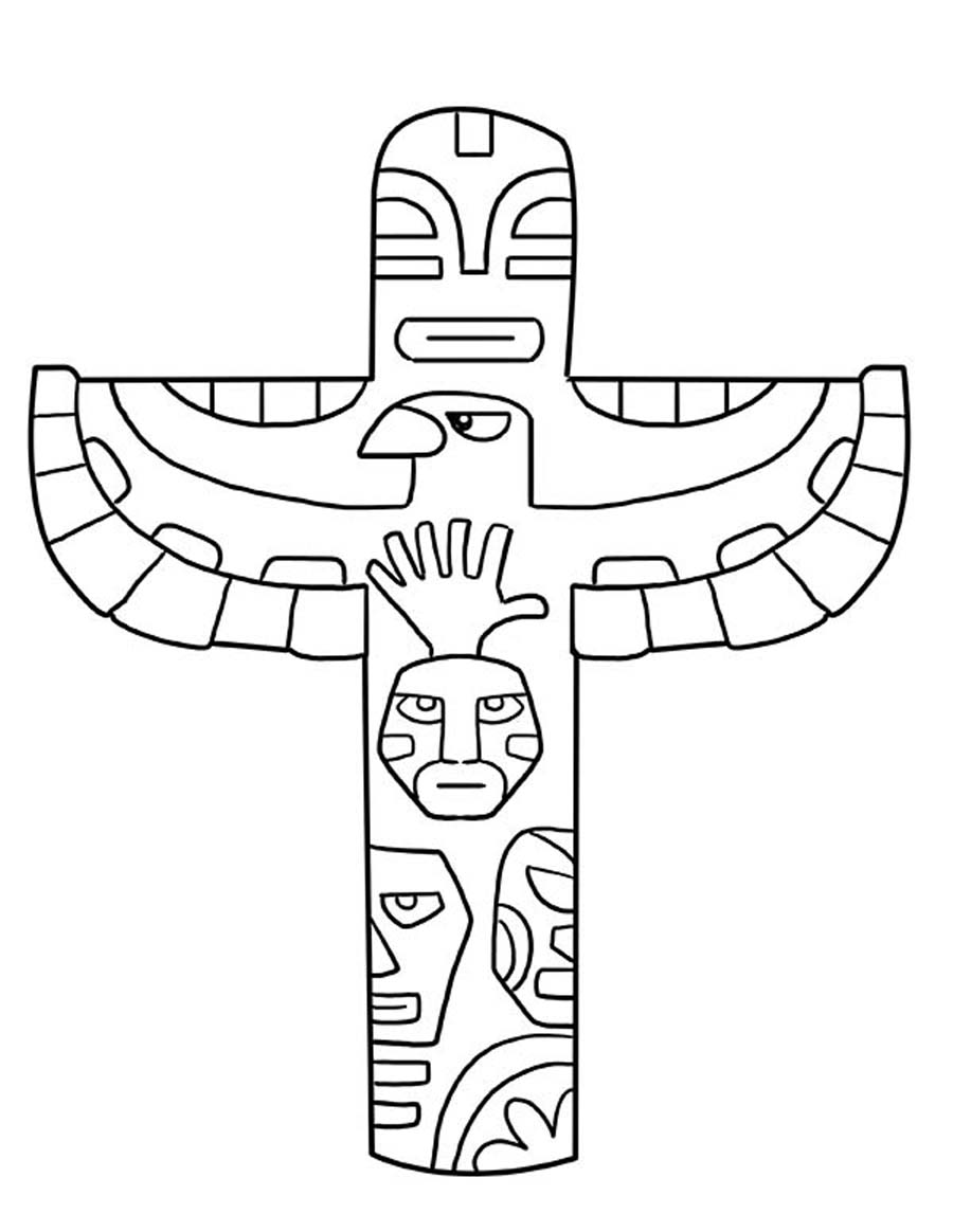 tlingit totem poles coloring pages - photo#10