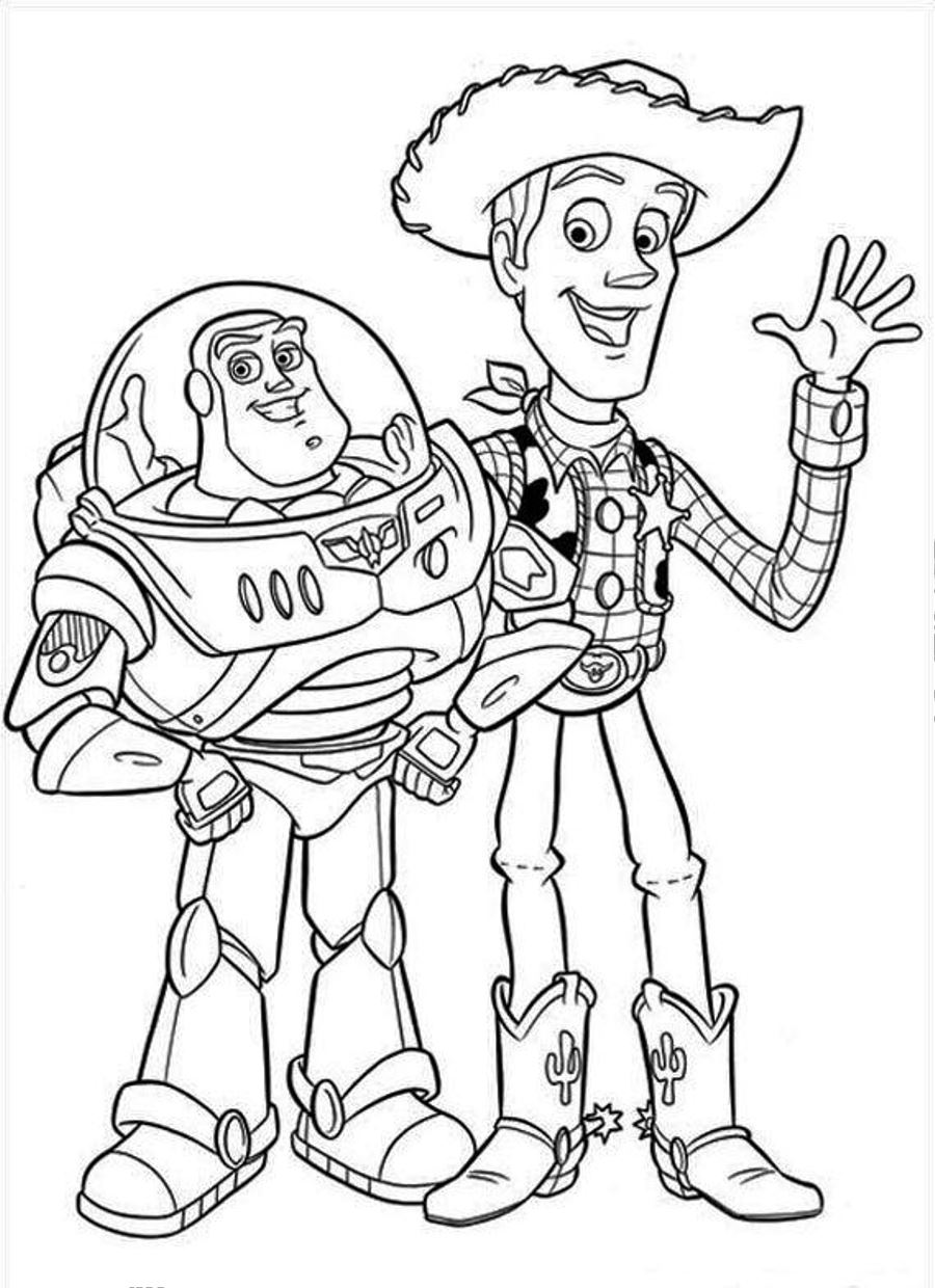 toy story coloring sheets - Buzz Lightyear Coloring Pages Printable