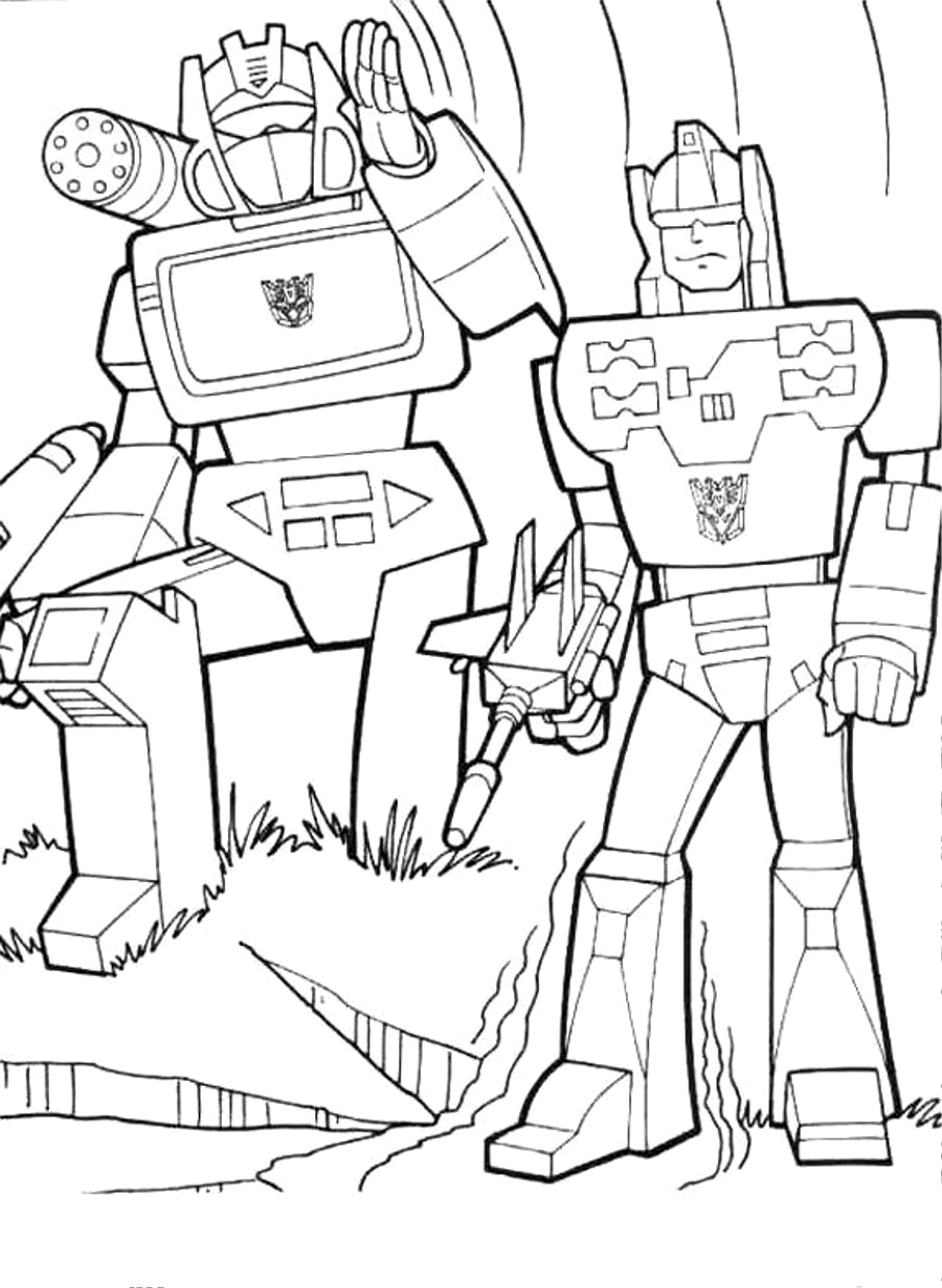 printable coloring pages transformers