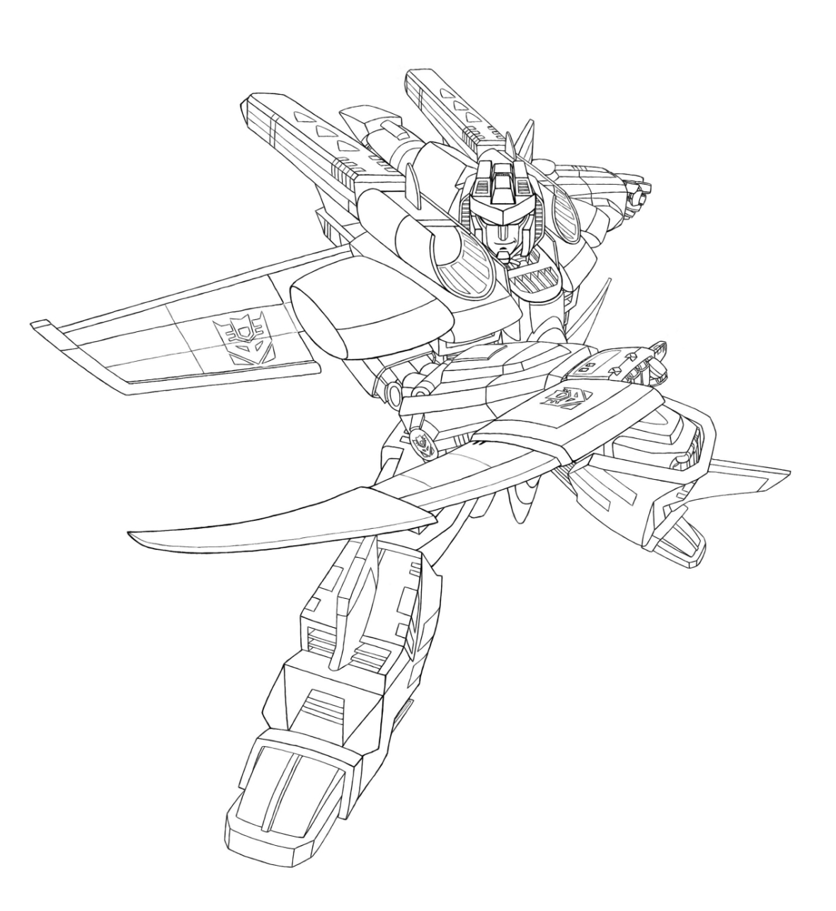 Free Coloring Pages Of Optimus Prime Autobot