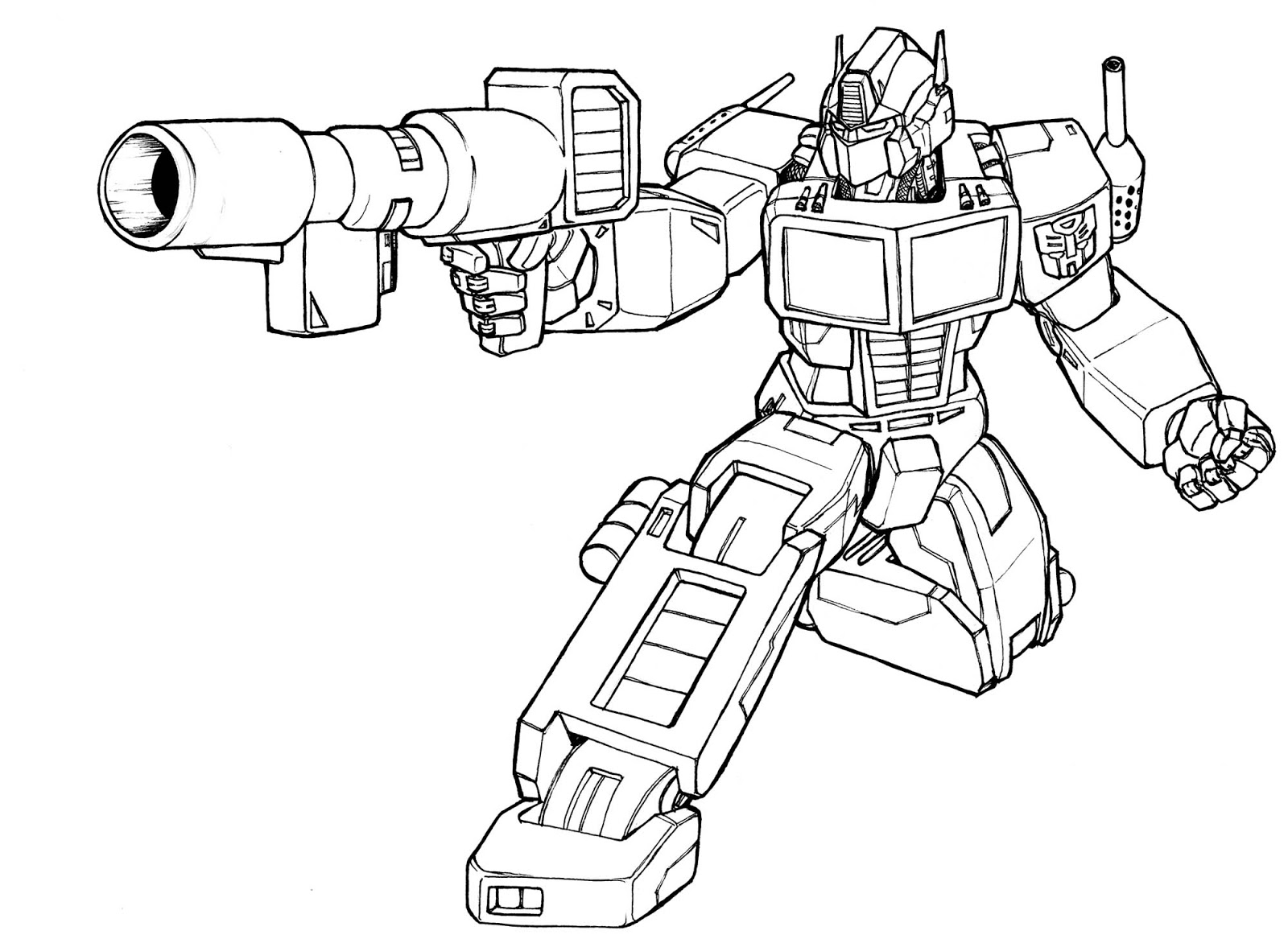 Not Transformer Coloring Pages