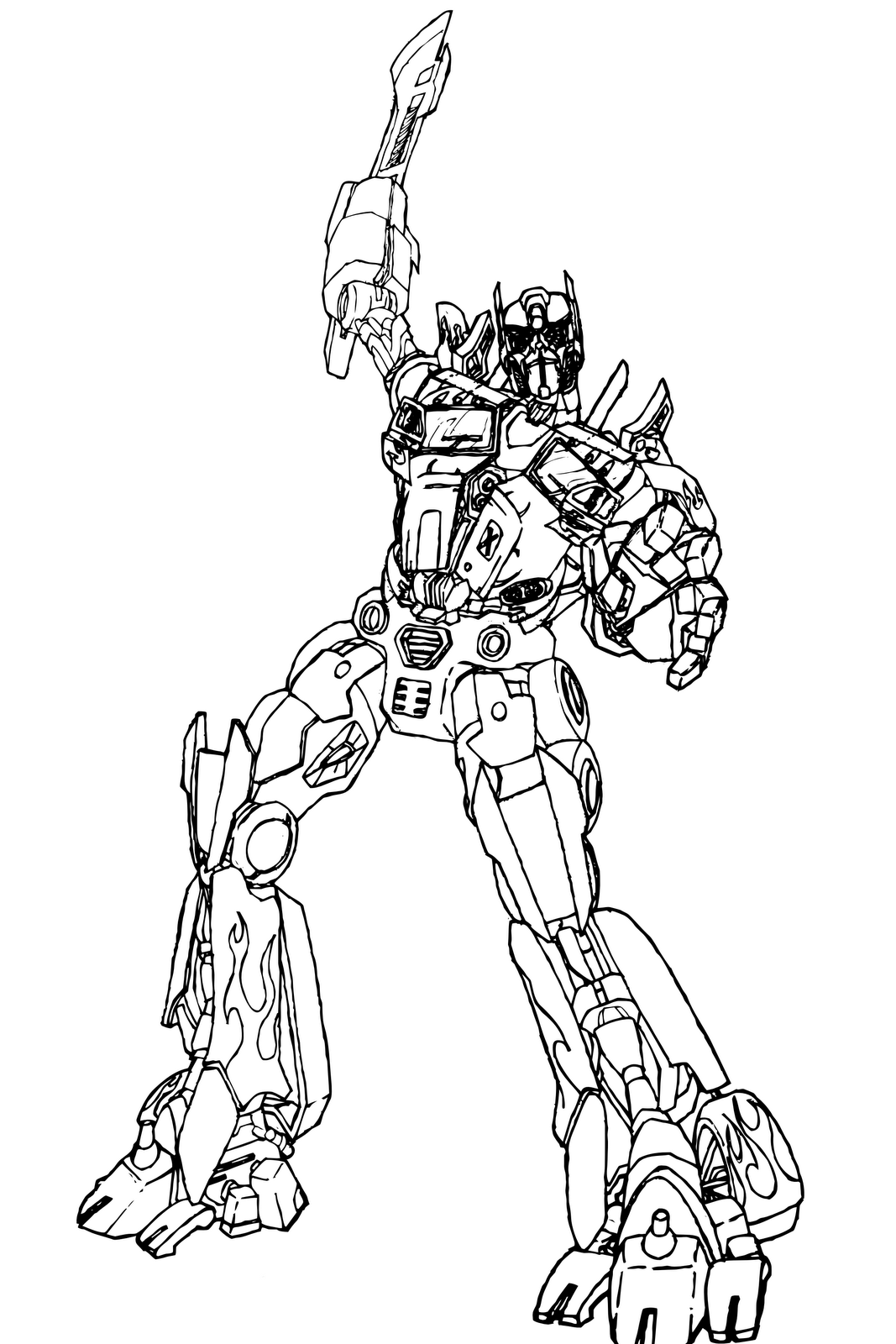 Coloring Pages Transformer Coloring Pages Optimus Prime printable transformer coloring pages me sheets