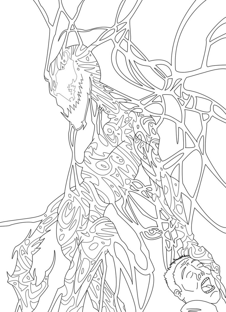 spiderman carnage coloring pages - photo#28