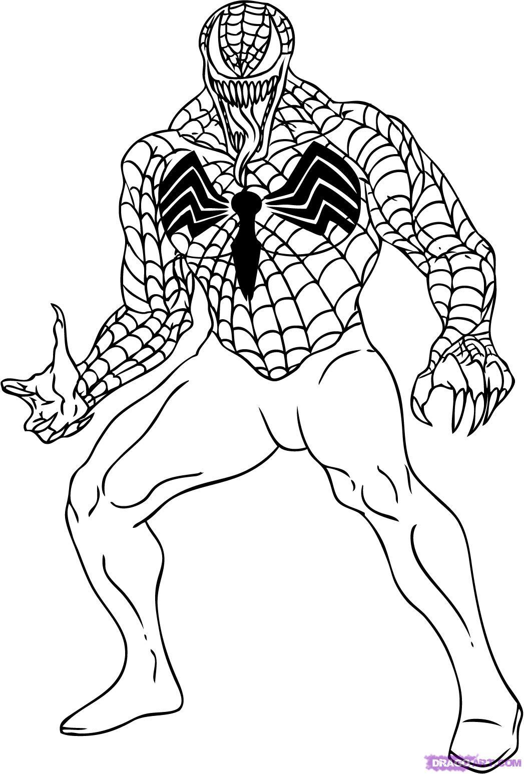 Printable Venom Coloring Pages Me Spiderman