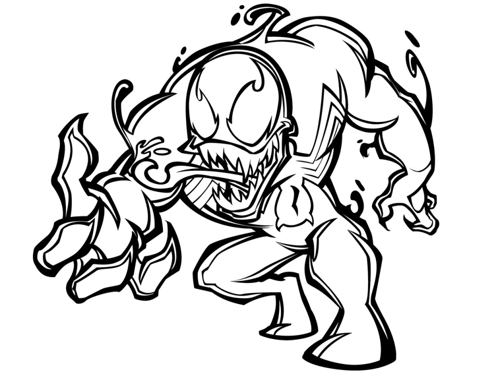 Coloring pages venom - Venom Coloring Sheets