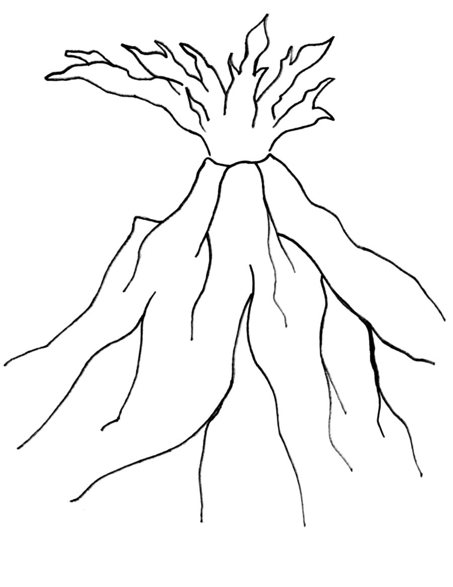 coloring pages volcano - photo #29