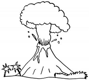 Volcano Coloring Sheets