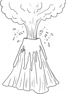 Volcano Free Coloring Pages
