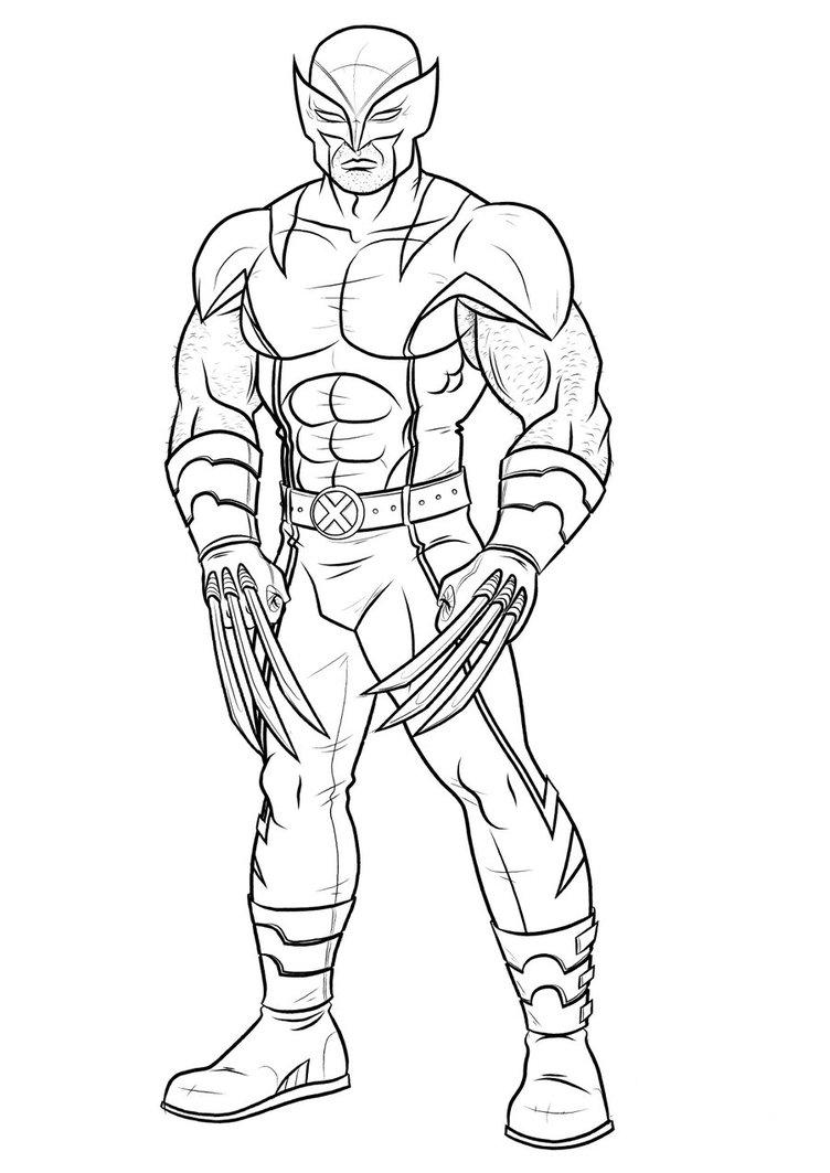 Coloring Pages Wolverine Color Pages printable wolverine coloring pages me page