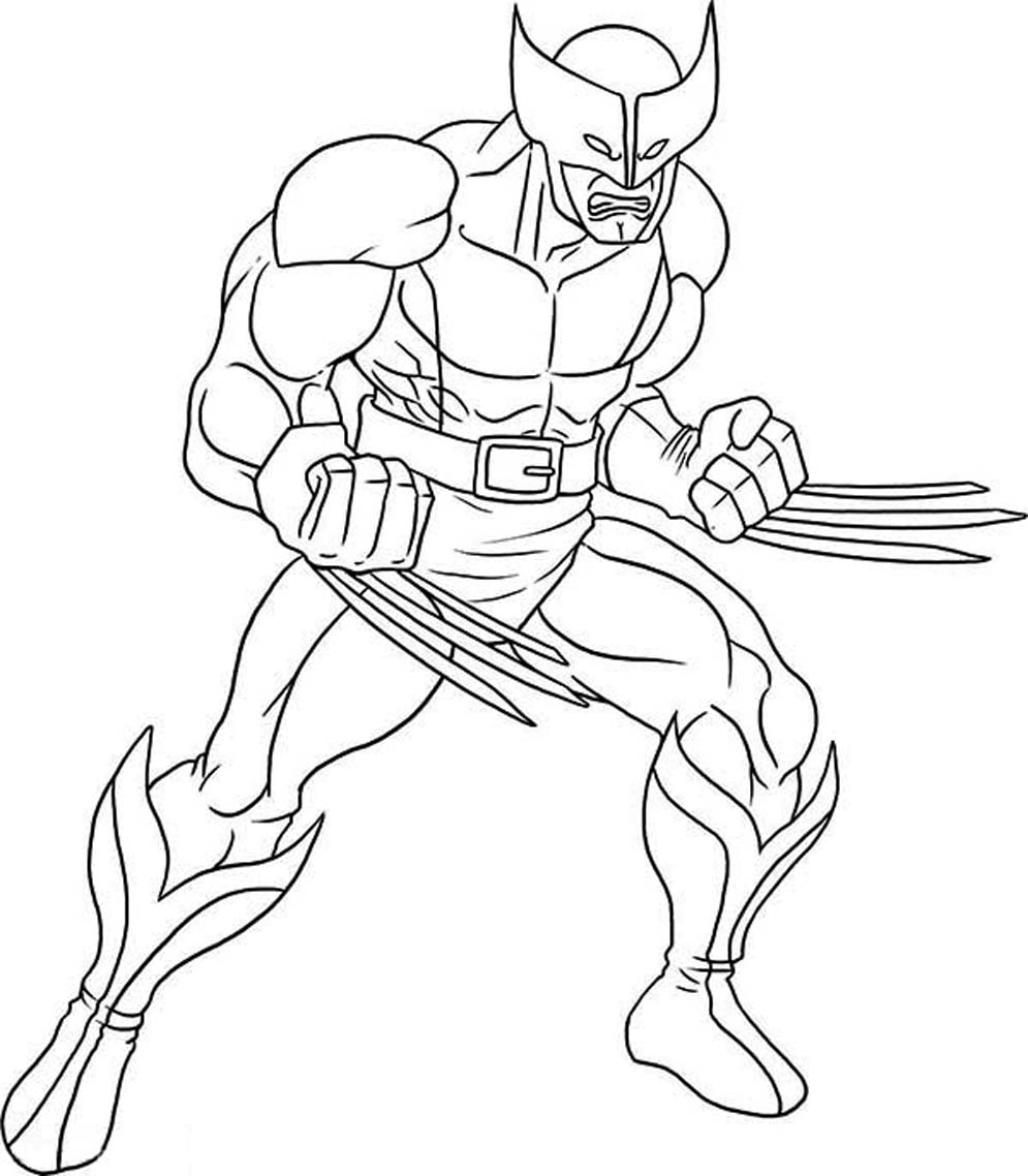 Printable Wolverine Coloring Pages ColoringMe