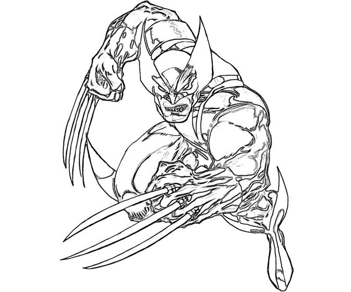 Printable Wolverine Coloring Pages Coloring Me Colouring Pages Printable