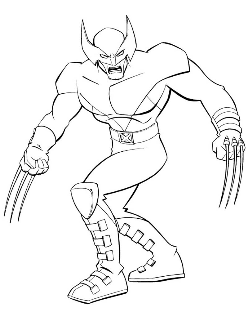 Wolverine coloring pages to print - Wolverine Coloring Pages For Kids