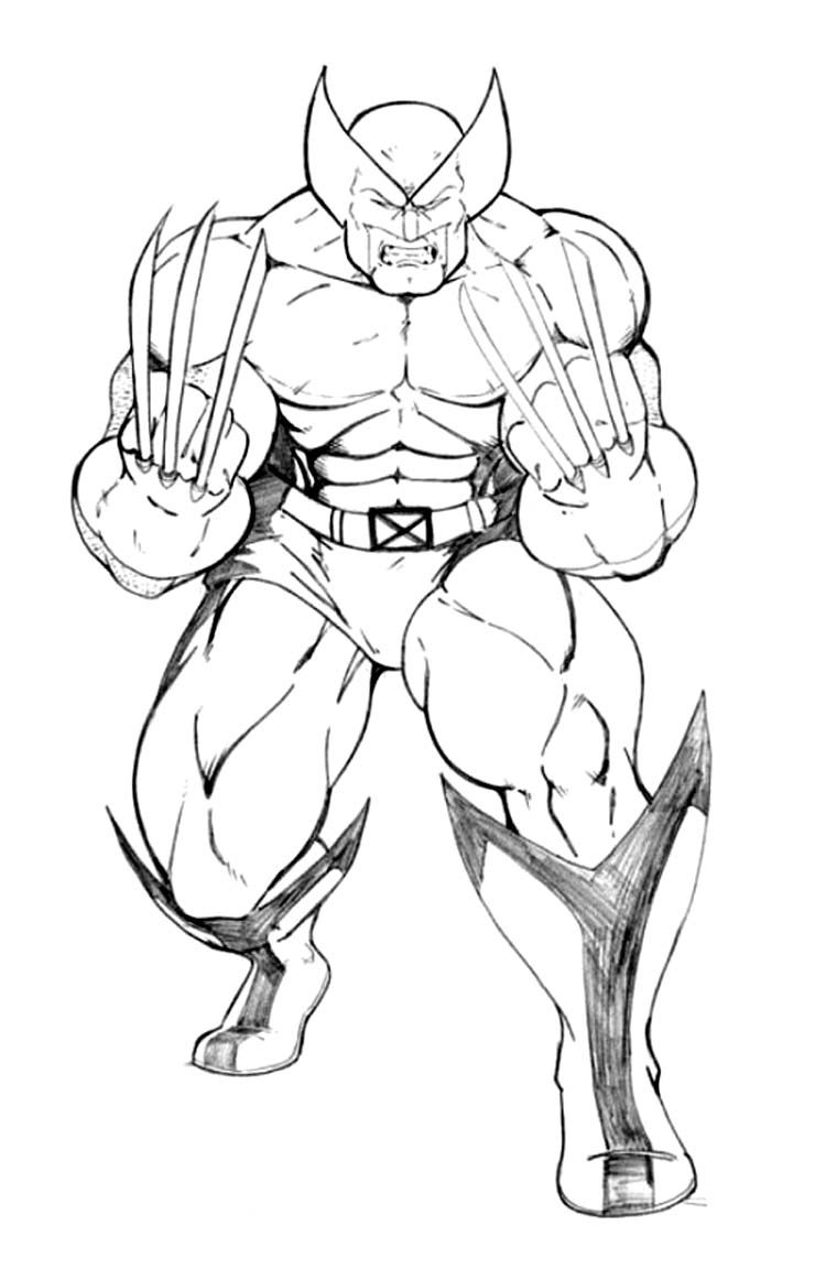 Printable Wolverine Coloring Pages Coloringme Com
