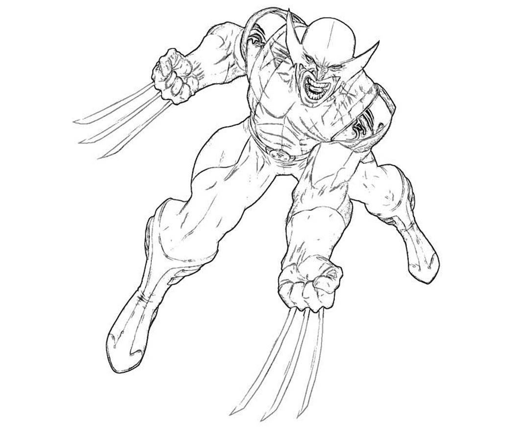 Printable Wolverine Coloring Pages Coloring Me