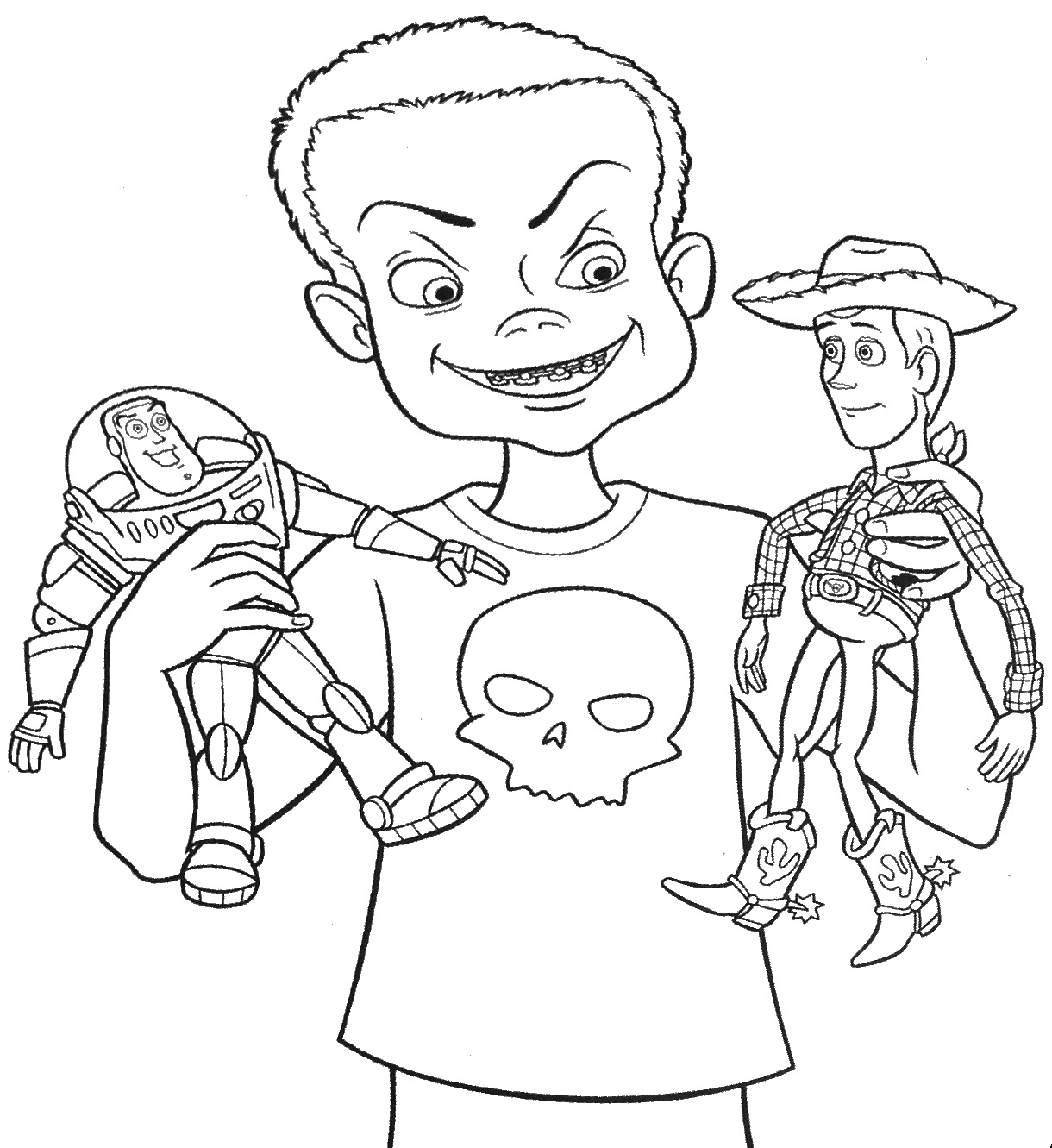 Woody From Toy Story Coloring Pages Coloring Pages