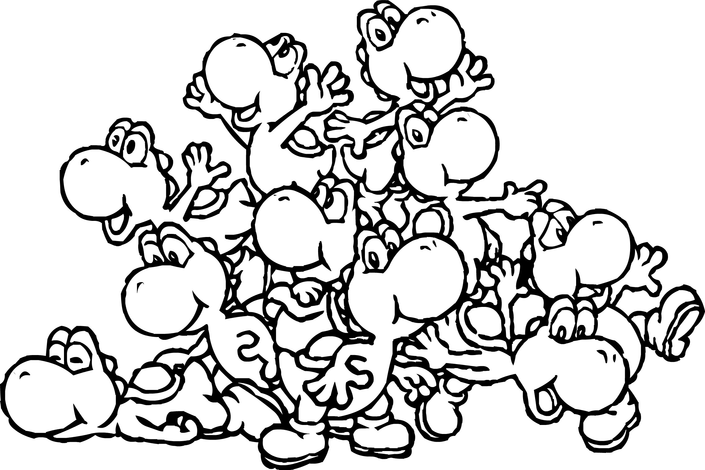 yoshi coloring pages printable
